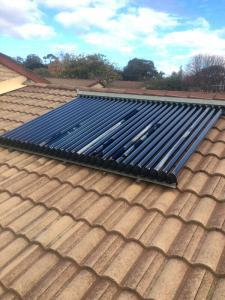Hail Damaged Hills solar hot water system Canberra