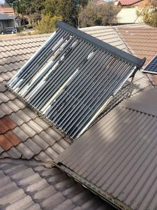 Hail damaged Apricus solar-hot water system Canberra