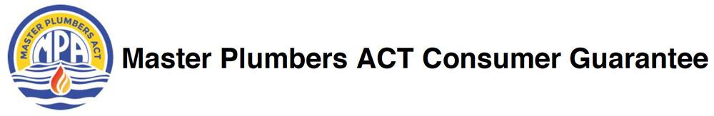 Master Plumbers ACT Consumer Guarantee